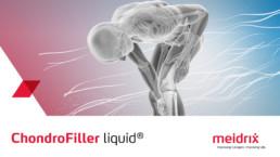 3D-Animation ChondroFIller liquid Introsequenz, Anantomisches Modell eines Menschen.