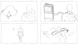 3D-Animation STIM PRO X9+ Storyboard Anwendungsszene