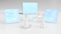 UROMED Silikon-Kondom-Urinale Produkte mit und ohne Verpackung: perspektivische Darstellung