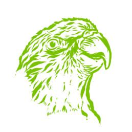 Vektorillustration. Grafische Darstellung eines Papageis