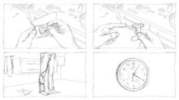 3D-Animation UROMED Silikon-Kondom-Urinale Storyboard