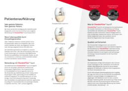 Patientenaufklärungs-Flyer für das Produkt ChondroFiller liquid Innenseiten