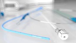 3D-Animation UROMED NEPHROquick Ballon-Katheter-Set: Setabbildung im Closeup
