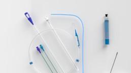 3D-Animation UROMED NEPHROquick Ballon-Katheter-Set: Setabbildung von oben