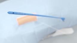 3D-Animation UROMED NEPHROquick Ballon-Katheter-Set: Abbildung der Spitze des NEPHROquick Ballonkatheters