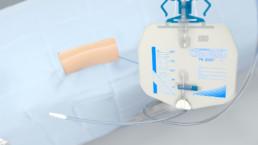 3D-Animation UROMED NEPHROquick Ballon-Katheter-Set: Abbildung des Cystobag TK2000 Urinbetels